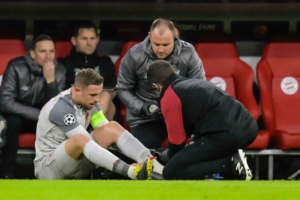 Jordan Henderson dính chấn thương sau trận thắng trước Bayern
