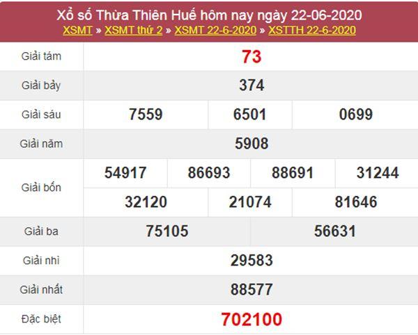Soi cầu XSTTH 29/6/2020 - KQXS Thừa Thiên Huế thứ 2