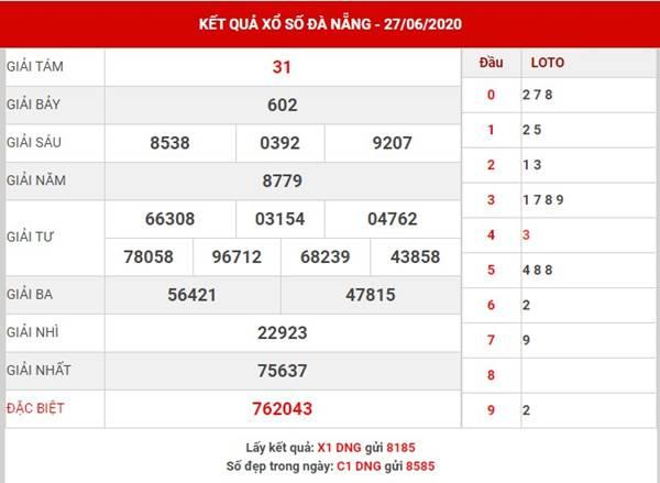 Thống kê XS Đà Nẵng thứ 4 ngày 1-7-2020