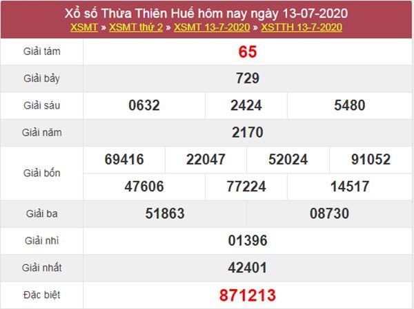 Dự đoán XSTTH 20/7/2020 - KQXS Thừa Thiên Huế thứ 2