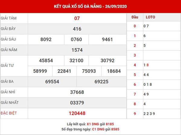 Thống kê SX Đà Nẵng thứ 4 ngày 30-9-2020