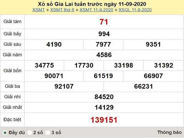 Dự đoán KQXSGL ngày 18/09- chốt kết quả xổ số gia lai thứ 6 hôm nay
