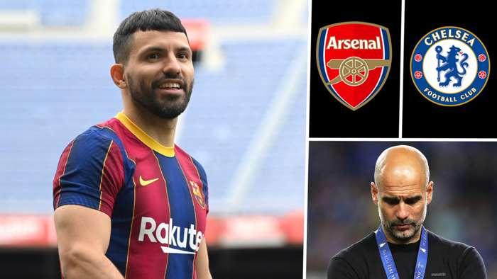 Cha của Aguero thừa nhận sự quan tâm của Arsenal và Chelsea